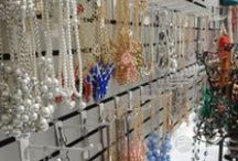 Jewelry Display | Gardner Village / We've got plenty of jewelry here at the Village at shops like Shopaholics, Posh Peddler, Plum Dandy, CF Homes, the Bead Farm & Aunt Elsie's! The jewelry displays here will tingle your shopping sense.  / by Gardner Village