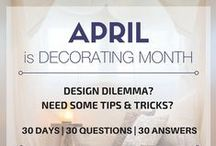 #AprilDesign30 / April is Decorating Month. So, for each of the 30 days in April, I'm answering your #interiordesign questions. 30 days, 30 questions, 30 answers. Send your inquiry to info@marilynkimberly.com