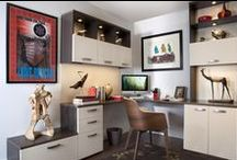Offices / A beautiful, personalized and functional home office makes working from where you live easier, better organized, and stylish. Let our designers create an office that matches your taste and blends perfectly in your home. The wide variety of custom cabinetry and functional office accessories we offer create comfortable, attractive and fluid work environments designed for any job at hand. / by transFORM