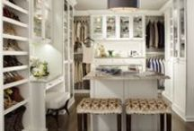 Dressing Room for your Home / We offer beautiful finishes, design styles and materials that masterfully combine to create dressing rooms customers sometimes mistake for living spaces. Options, such as beautiful islands that feature custom cabinetry, enclosed hanging wardrobes, benches with hidden storage and useful built in accessories like disappearing mirrors or locking velvet jewelry drawers transform an ordinary space into the ultimate dressing room for the discriminating customer. / by transFORM