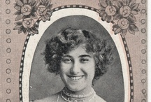 Actresses on Antique Cigarette cards