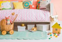 Little Girl's Bedroom Decor / Ideas for a fresh and fun toddler-elementary school aged girl's bedroom.