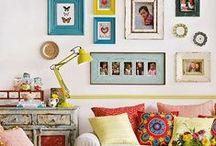 Home Decor / Home decor inspiration. Happy, colorful spaces.