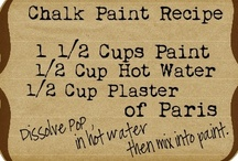 Chalk Style Paint Recipes/Tips / Chalky style paints, recipes, tips & ideas