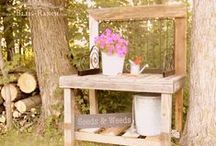 Potting Sheds & Benches, Garden, Yard, Landscape / Inspiration to use outdoors, upcycled potting sheds, benches, and interesting yard additions