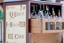 Bars & Carts / Creative ways to use carts and upcycled bars as well as bar ware and bar ideas