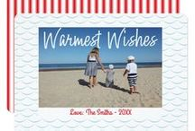Beachy Holiday Photo Cards