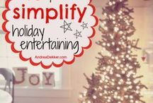 Simplify Holiday Entertaining / The holidays are busy enough. Don't make them even busier by over complicating hosting Thanksgiving or Christmas this holiday season.  It takes hours to polish all of that silver and crystal in preparation and even longer cleaning up the mess when you could be mingling with your guests.  The simple solution - use paper products!  They aren't what they used to be, I promise.  Plates, napkins, cups, silverware and even table runners!  They are all adorable this 2017 holiday season!