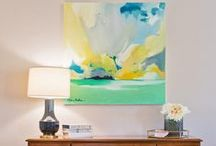Art, to Each Their Own / Art truly transforms a space. Here are some of our favorite pieces, many available in our store or online at http://bellavici.com.