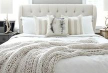 HOME | bedroom / Simple, bright, light, uncluttered master bedrooms.