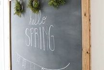 CHALKBOARD / Chalkboard decor, inspiration, art, signs, and quotes.