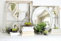 MANTELS / Mantel ideas and inspiration:  decor, styling, seasonal, special occasion.