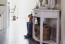 HOME | entry / Entryway, front hallway, decor, organization and styling ideas.