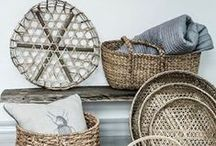 BASKETS / I love to have baskets in every room of the house for practical storage solutions that add to the decor and organization in the home.