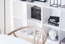 SHELVES / How to style bookcases and shelves, inspiration and styling tips, ideas for styling and storage using shelves, shelving and bookcases.