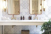 Bathrooms / Bathroom designs we love. Some of these pins were designed by Bella Vici - home to three of OKC's best Interior Designers! What look are you trying to achieve? We can help.   Our designs include #BellaViciDesigns.