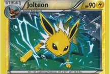 Jolteon / Jolteon (Japanese: サンダース Thunders) is an Electric-type Pokémon. Jolteon evolves from Eevee when exposed to a Thunder Stone. Jolteon is one of Eevee's final forms, the others being Vaporeon, Flareon, Espeon, Umbreon, Leafeon, Glaceon, and Sylveon.
