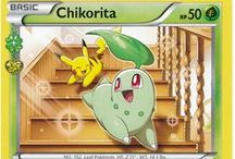 Chikorita / Chikorita (Japanese: チコリータ Chicorita) is a Grass-type Pokemon. Chikorita evolves into Bayleef starting at level 16, which evolves into Meganium starting at level 32. Along with Cyndaquil and Totodile, Chikorita is one of the three starter Pokémon of Johto available at the beginning of Pokémon Gold, Silver, Crystal, HeartGold, and SoulSilver.