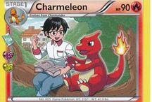 Charmeleon / Charmeleon (Japanese: リザード Lizardo) is a Fire-type Pokemon. Charmeleon evolves from the starter Pokemon Charmander starting at level 16 and evolves into Charizard starting at level 36.