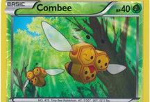 Combee / Combee (Japanese: ミツハニー Mitsuhoney) is a dual-type Bug/Flying Pokemon. Female Combee evolve into Vespiquen starting at level 21. Male Combee are not known to evolve into or from any other Pokemon.