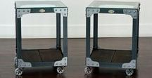 Industrial End Tables and Side Tables / A collection of industrial end tables or industrial side tables made by Retroworks Inc.