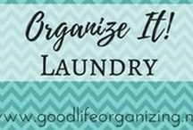Organize It! LAUNDRY / Tips and ideas to organize your laundry room and how you get your clothes from dirty to clean to put away