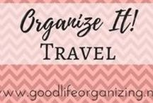 Organize It! TRAVEL / Tips to stay organized while you travel or are just in the car running errands