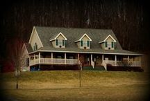 Our Previous Home~ / We built this Cape House over thirteen years ago on 13.5 acres of rolling hills.  Though destiny moved us to the 1900 built restored farmhouse where we now reside, the memories will always remain as fresh as the ground we broke to build it~ / by Tammie ~Mulberry Spice~
