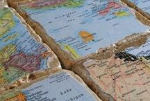 Travel: Maps / Travel makes me happy. Maps remind me of travel. Here's to many more adventures.
