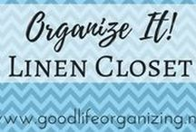 Organize It! LINEN CLOSET / Tips to organize your sheets and towels in the linen closet