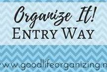 Organize It! ENTRYWAYS / Keep your entry way and foyer organized