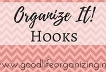 Organize It! HOOKS / Hooks are a very underutilized organizing too. Hang 'em up!