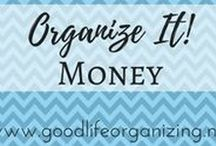 Organize It! MONEY / Tips to organize your money and your finances