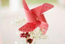 Pinwheel wedding theme