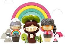 Momiji Dolls / Momiji are hand-painted message dolls. Inside each one there's a tiny folded card for your own special message, dream or wish. Spread the love.