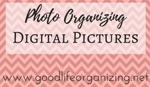 Photo Organizing: Digital Pictures / Tips and ideas for organizing your digital photos and pictures. For even more great information visit http://www.goodlifeorganizing.net/photo-organizing