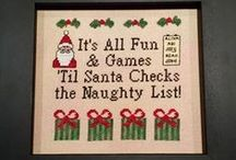 Christmas Cross Stitch / Christmas is a great holiday for cross stitch patterns and supplies.  Here are some of my favorites.