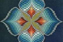Baragello / Baragello can be use in embroidery, Hardanger, quilting, and needlepoint, just to name a few crafts.  It is a simple series of stitches each getting longer and shorter in succession. The effect is amazing.