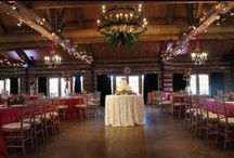Real Wedding: July 2014 (200 guests) / Hello color! Pink + Orange + White + Green Custom Champagne & White Chevron Runners