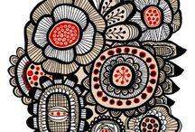 Zen Doodles - Zentangle Patterns - Tutorials