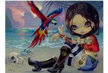 Jasmine Becket-Griffith / The Gothic fantasy art of Jasmine Becket-Griffith, aka Strangeling, featuring big eyed faeries, princesses, royalty, goddesses, mermaids, dragons and more. / by Hafapea