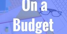 On a Budget / How to figure out how to manage a budget and start using it to manage my money. All about setting up your budget and managing your money and accounts. budget budgeting debt saving money spending less paycheck bills