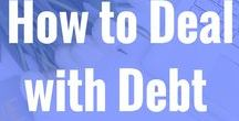 How to deal with debt / All sorts of money information. Especially how to deal with debt, being in debt or broke. Debt free, pay off debt, debt payoff, credit cards, saving money, finance, budget, cash envelope system, student loan debt, frugal,
