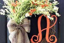 Shut the front door! / Wreaths to make for the front door