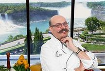 Rainbow Room by Massimo Capra / Fallsview Rainbow Room by Massimo Capra is a Tuscan Italian Restaurant with a view of both American and Horseshoe Falls. The Rainbow Room is open for breakfast, lunch and dinner. Located in the Crowne Plaza Hotel- Niagara Falls