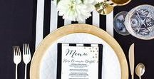 Black and White Wedding Theme from Laurie Sarah Designs / Once you purchase your Black Diamond Rings, here are some great ideas for your Black Tie Affair Wedding Theme!