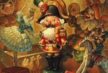 "Nutcracker Magic! / ""The nutcracker sits under the holiday tree, a guardian of childhood stories. Feed him walnuts & he will crack open a tale..."" ~Vera Nazarian"