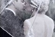 Wedding in the Rain / Inspiration for your cold weather wedding. Get caught in the rain! Turn a bad thing into a gorgeous envelopment of how beautiful rain can be.