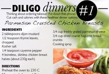 Diligo | ♥ Diligo Dinners / Thinking about ordering takeout? Put down the phone! Cut cash and calories with these healthier dinner options. More in The Magazine >> http://bit.ly/127q66g / by Diligo Online