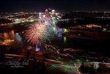 Fireworks over Niagara Falls / Fireworks Display over Niagara Falls